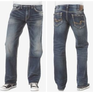Silver Jeans Zac Size 40 X 30 Relaxed Straight Leg